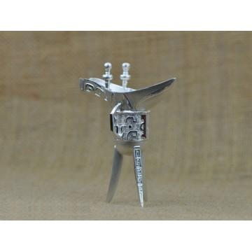 S999千足银 纯银 银爵杯 银制工艺品 馈赠佳品(80克左右)