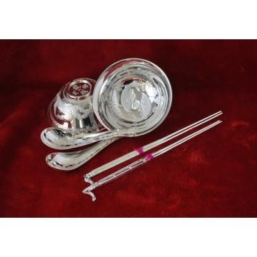 银筷 银摆件 纯银筷子1双(38克) 送礼佳品