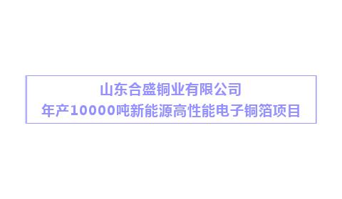 """合盛铜业年产10000吨新能源高性能电子铜箔项目 定位""""高新""""布局5G发展 一期迈入收尾攻坚阶段"""