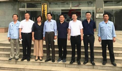 中国电子商会会长王宁一行到中航天赫(唐山)钛业有限公司考察调研