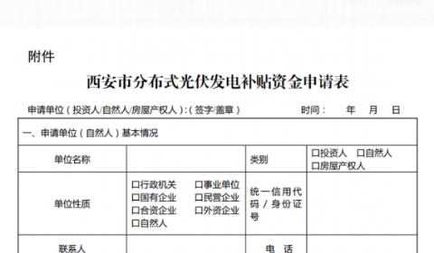 补贴0.25元/度!给屋顶产权人一次性补10万元/MW!西安出台分布式补贴相关政策
