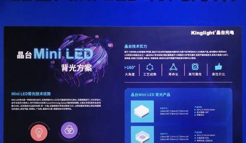 晶台首发Mini LED背光新品
