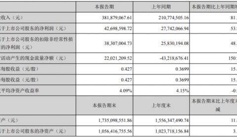 下游电池企业大力扩产 助力翔丰华中报石墨负极材料营收3.81亿